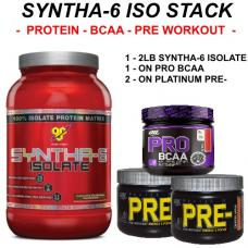 BSN Syntha-6 ISOLATE 2lb. Stack